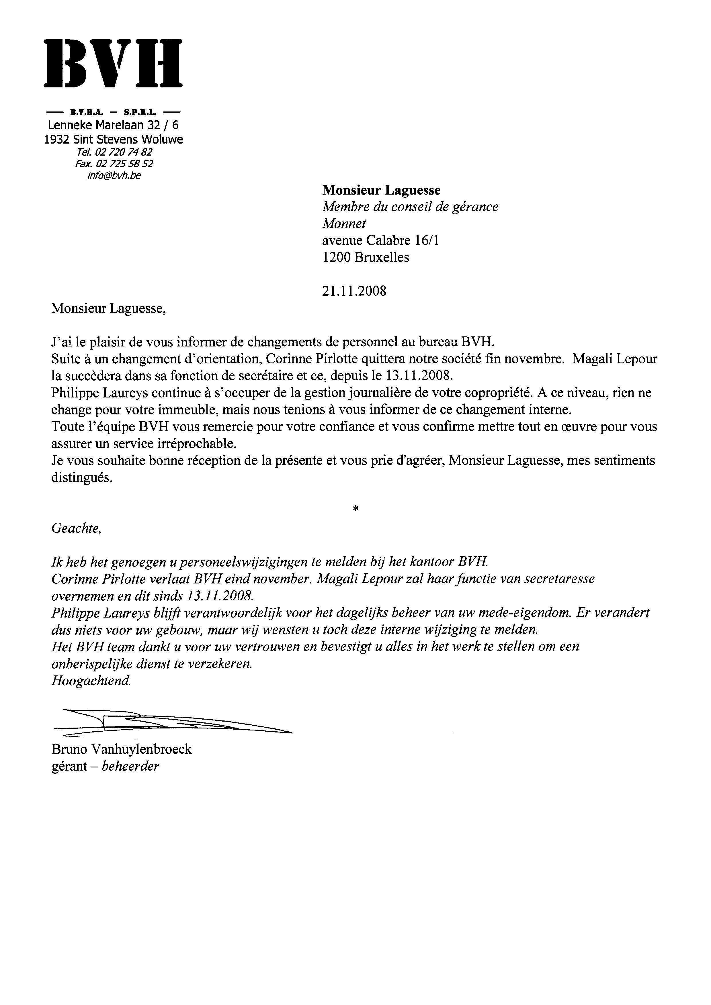 organisation-BVH-nov2008
